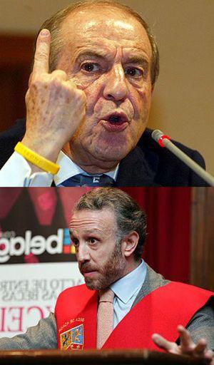Foto: José María García a Eduardo Inda, en Veo 7: Un segundo, señor jefe de prensa de Florentino Pérez