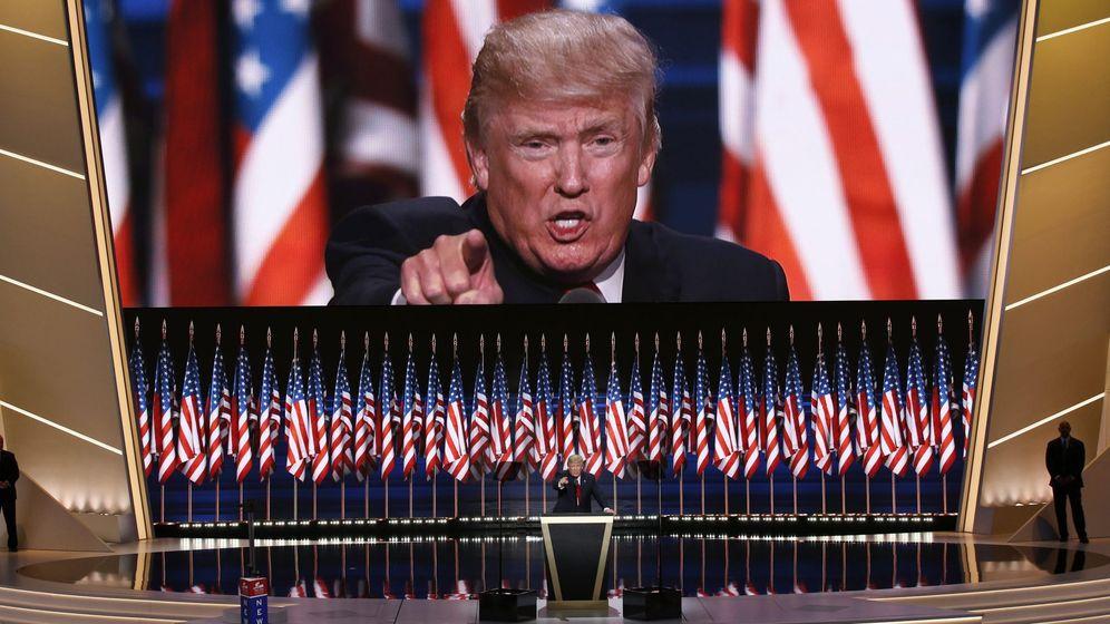 Foto: Donald Trump durante su discurso el día del cierre de la Convención Republicana (EFE)