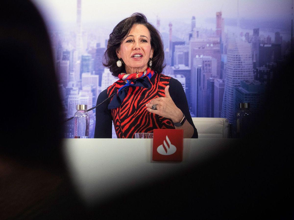 Foto: La presidenta del Banco Santander, Ana Patricia Botín, durante la presentación de resultados de la entidad. (EFE)