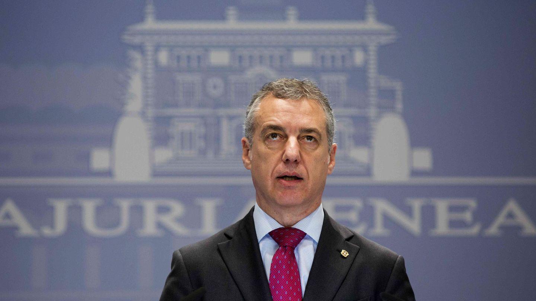 El lehendakari, Iñigo Urkullu, durante una rueda de prensa. (EFE)
