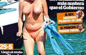 El otro desnudo de Mercedes Milá... que se quedó guardado en un cajón