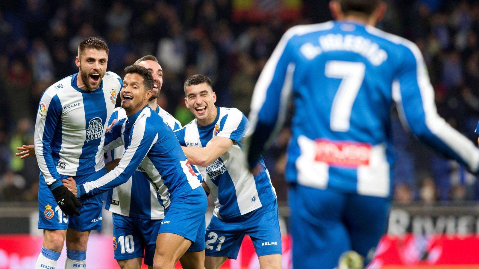 Foto: Jugadores del Espanyol celebran un gol. (EFE)