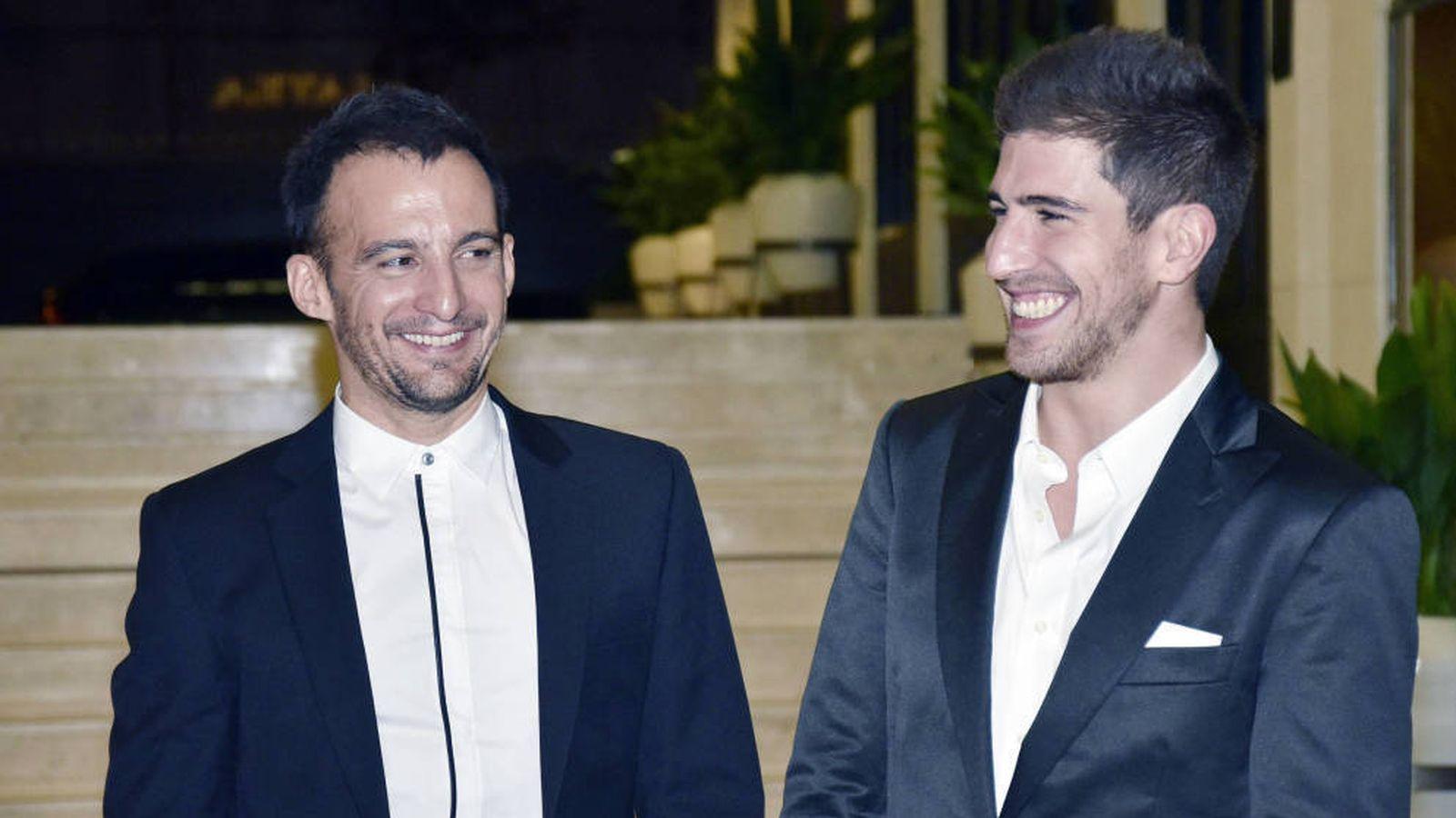 Foto: Amenábar y David Blanco en una foto de archivo. (Getty)