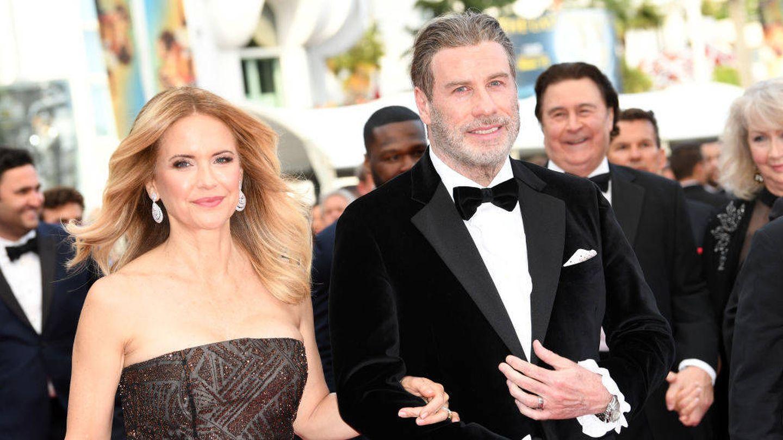 John Travolta junto a Kelly Preston. (Getty)