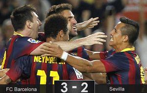 Messi y Alexis ponen fin a los intentos de un Sevilla indignado