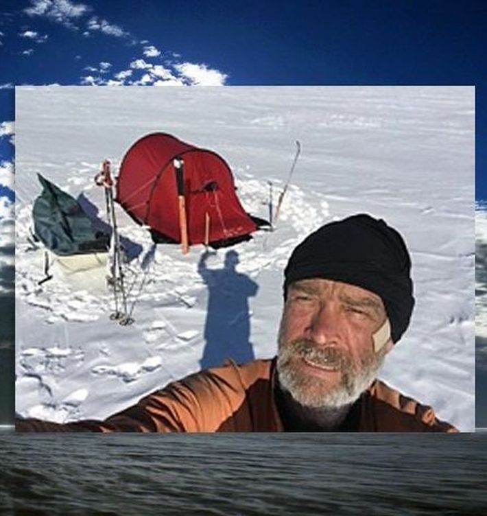 Foto: Henry Worsley en plena expedición.