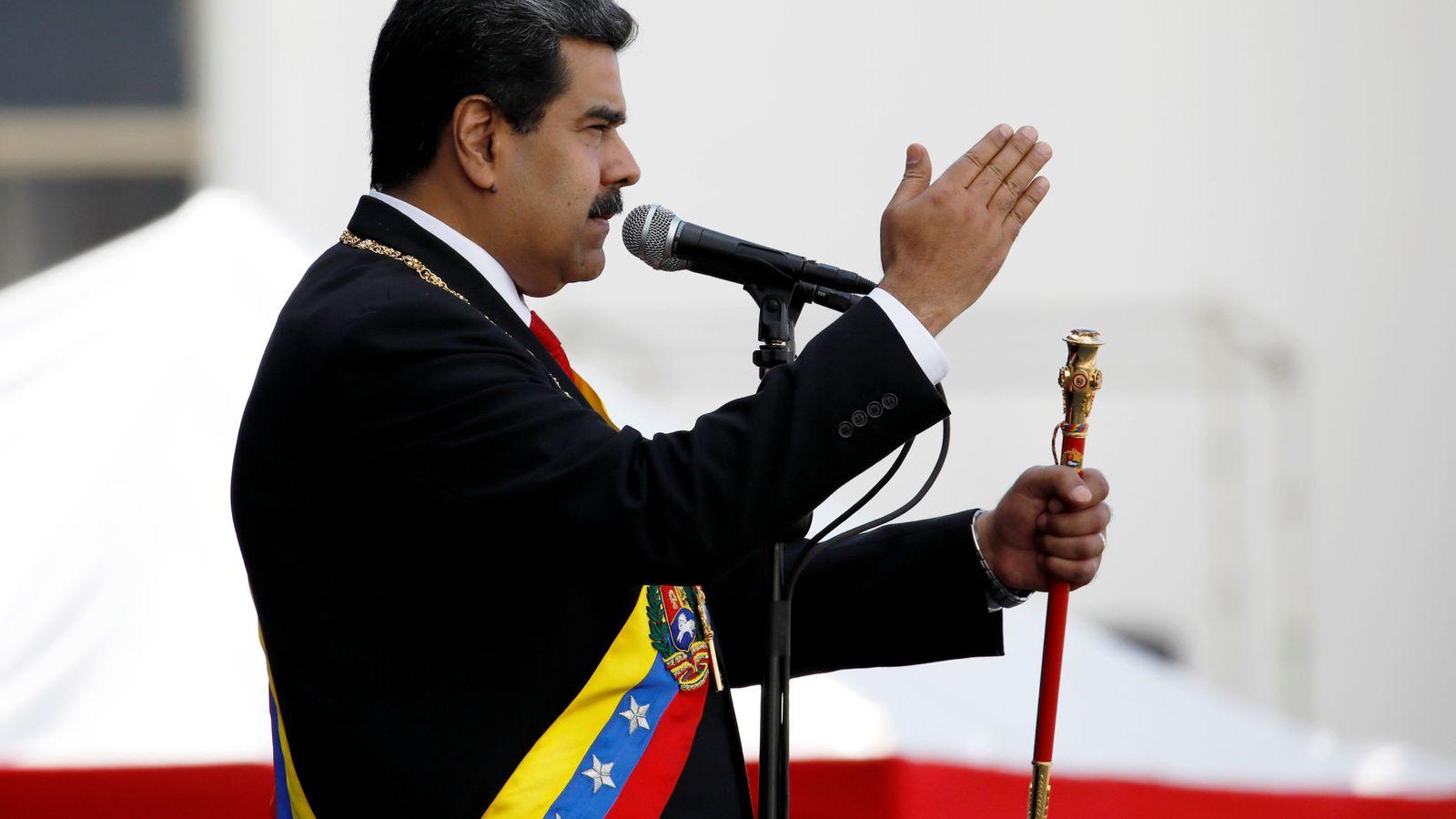 Foto: El presidente de Venezuela, Nicolás Maduro, en su toma de posesión esta semana. (EFE)