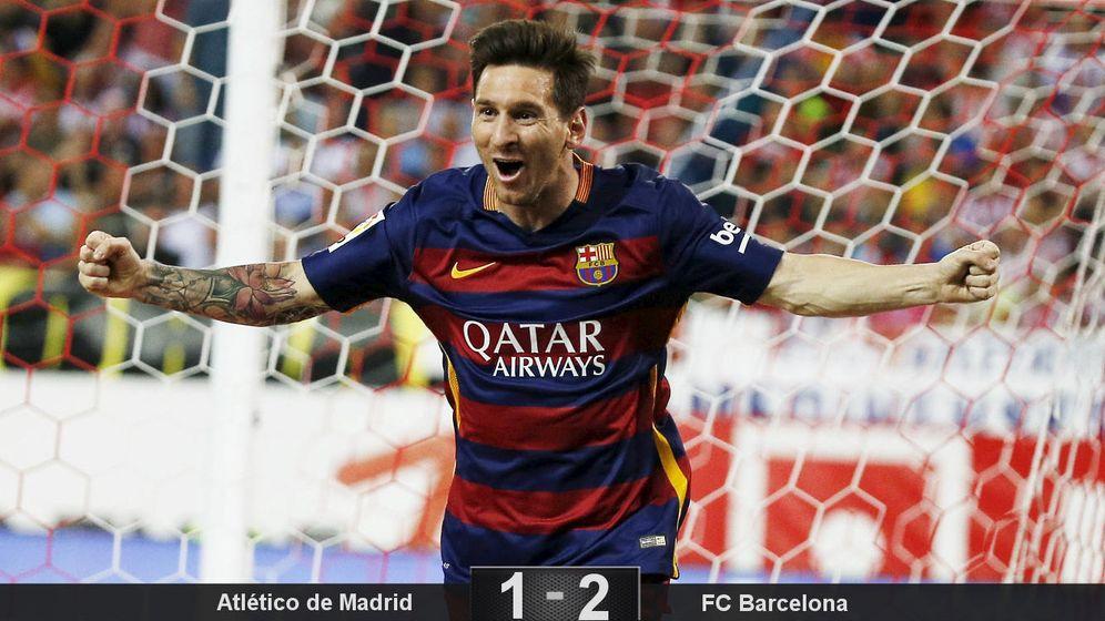 Foto: A Messi no le hace falta entrenar para jugar un ratito y darle tres puntos al Barça