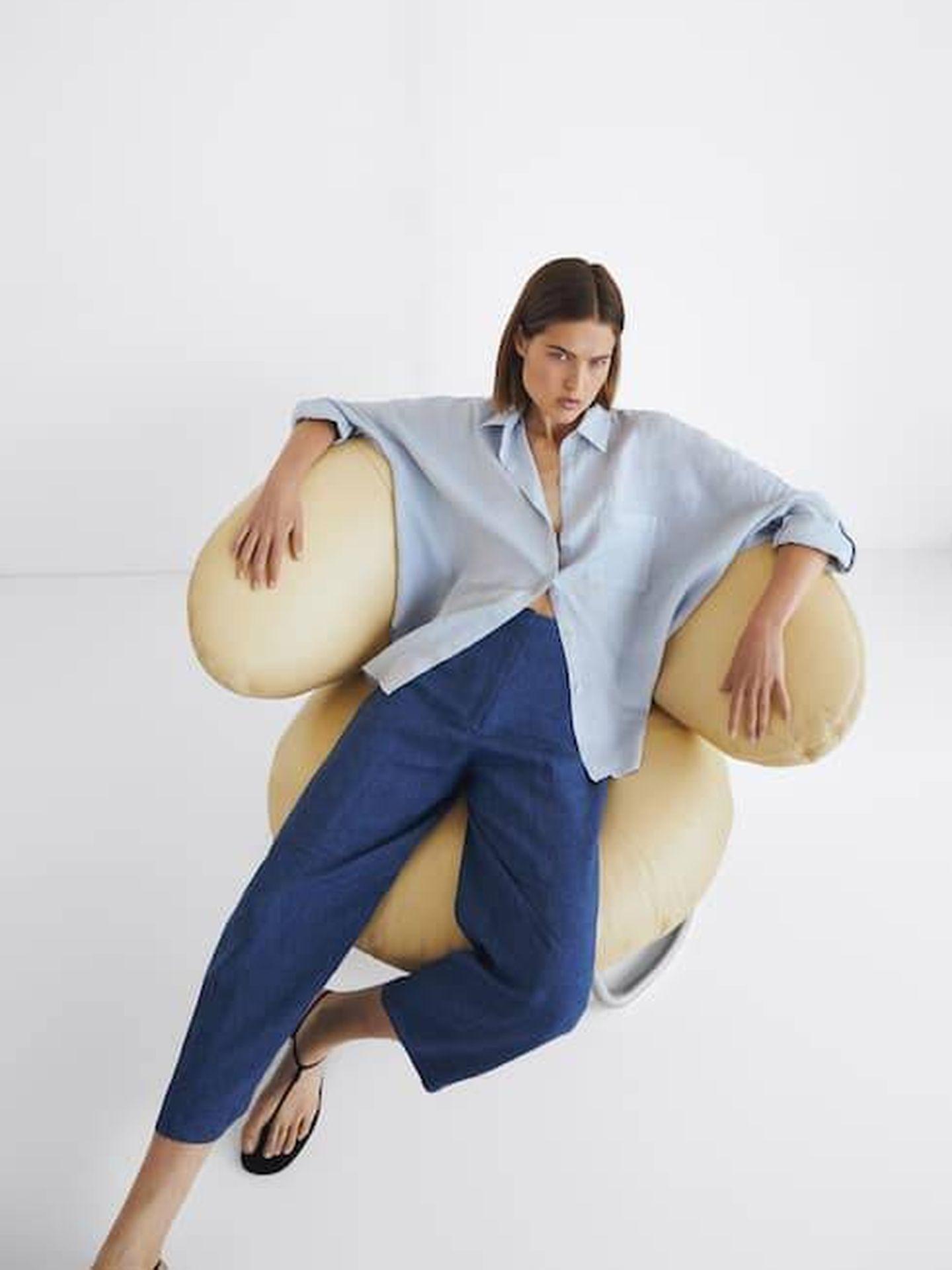 Pantalón rebajado de Massimo Dutti. (Cortesía)