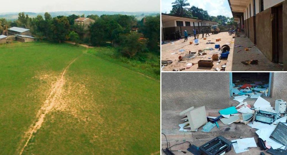 Foto: Imágenes del seminario mayor de Malole, en la región congoleña de Kasai, tras los ataques de una milicia armada (Fotos cedida por la ONG Mutoka Mwoyo).