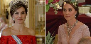Post de ¡Por fin! Letizia y Kate, cara a cara en la cena de gala en Buckingham Palace