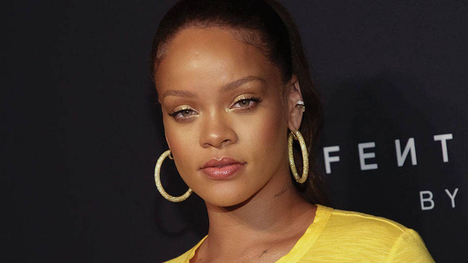 Foto: Rihanna, en la presentación de su firma de maquillaje, Fenty Beauty.