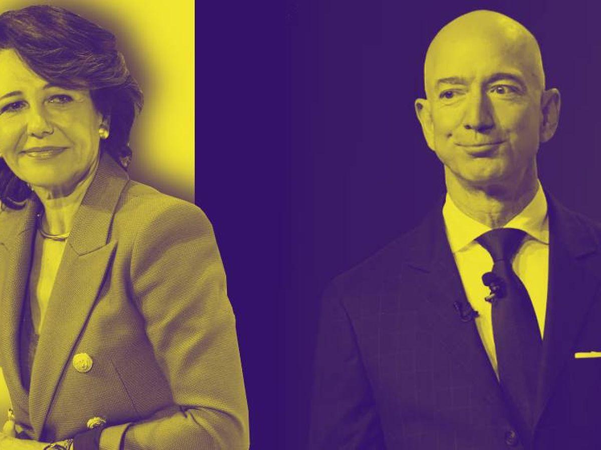 Foto:  Ana Botín y Jeff Bezos