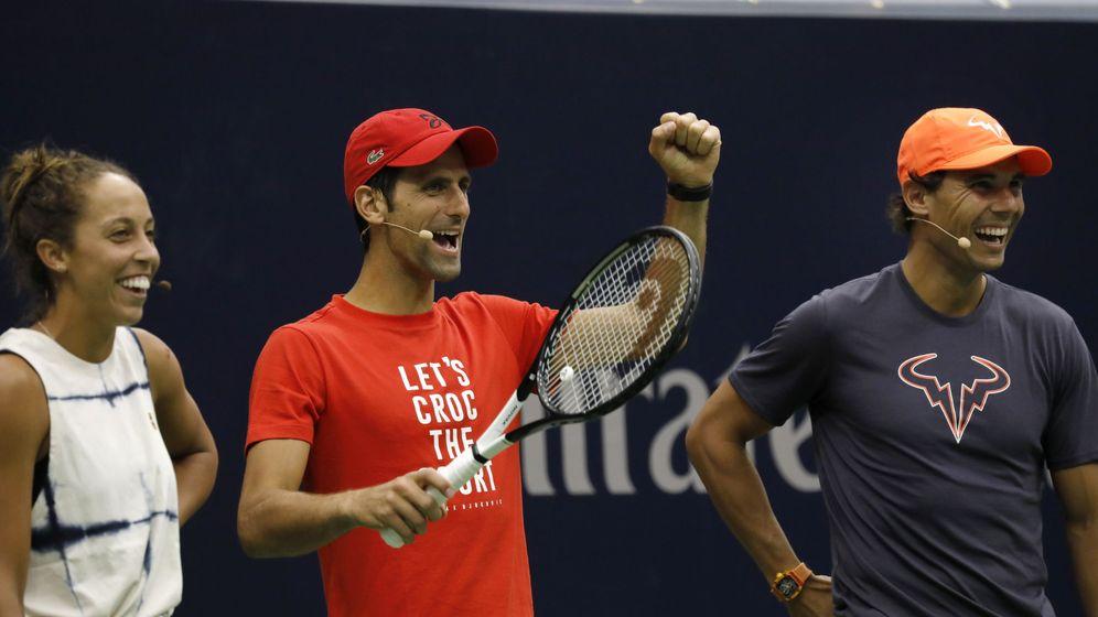 Foto: Djokovic y Nadal, en un evento reciente. (Reuters)