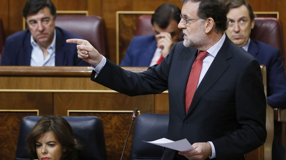 Foto: El presidente del Gobierno, Mariano Rajoy, este miércoles en el Congreso de los Diputados. (Efe)
