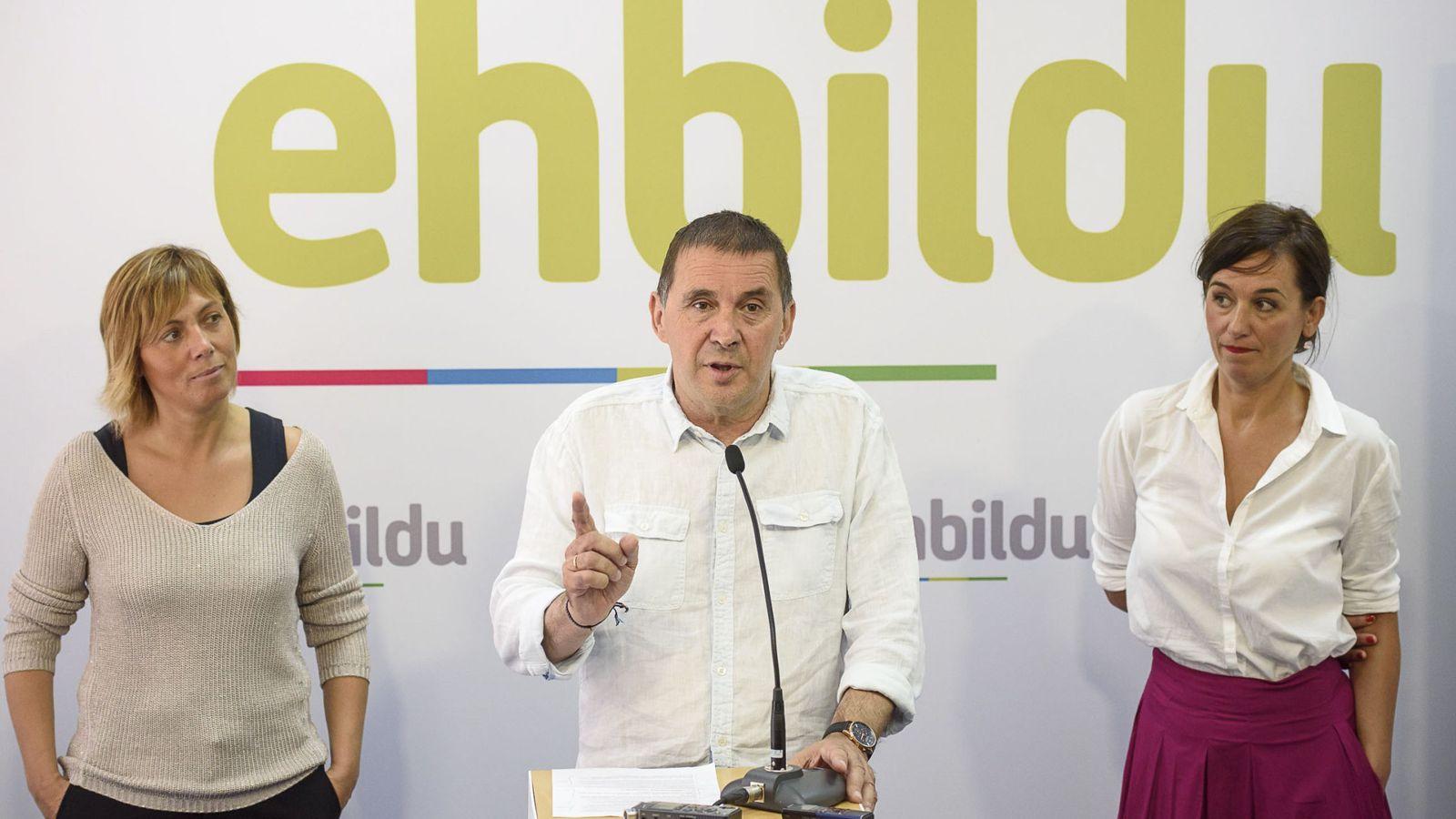 Foto: Arnaldo Otegi se presenta ya como candidato a lehendakari por EH Bildu. (EFE)
