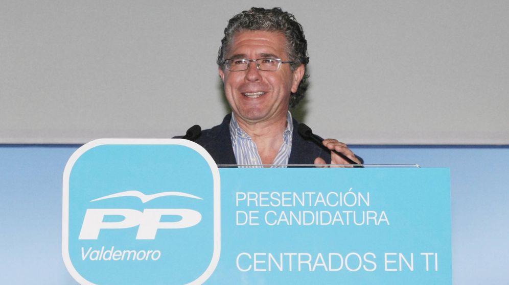 Foto: Francisco Granados, en un acto electoral en Valdemoro. (EFE)