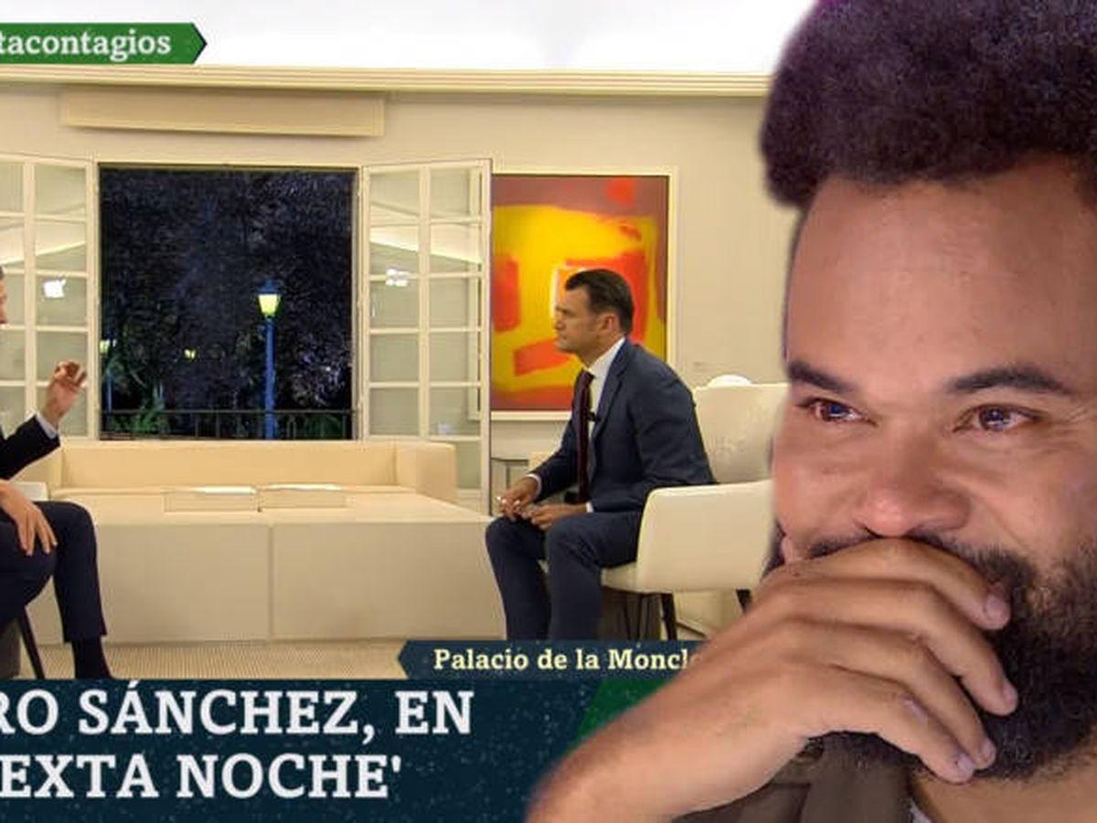 Foto: Carlos Jean comentando la entrevista de Iñaki López a Pedro Sánchez.