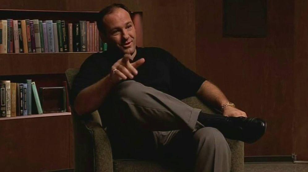 Foto: Imagen de la primera sesión de Tony Soprano en la consulta de la Dra. Melfi. (HBO)