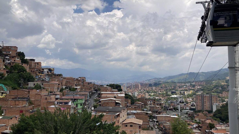 Vista de M0edellín desde el metrocable de la ciudad. Foto: Marta Montojo