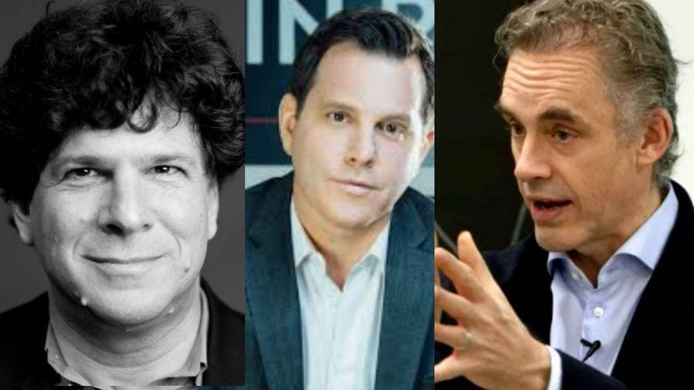 Foto: Eric Weinstein, Dave Rubin y Jordan Peterson.