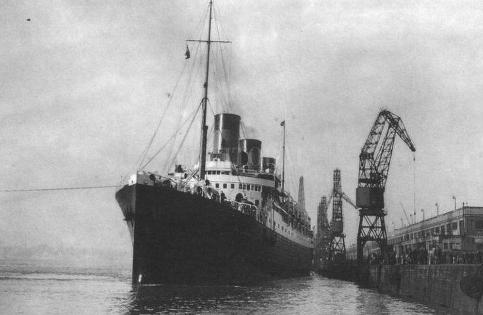 Foto: En noviembre de 1939 el vapor Mssilia llega a Buenos Aires con 147 exiliados españoles