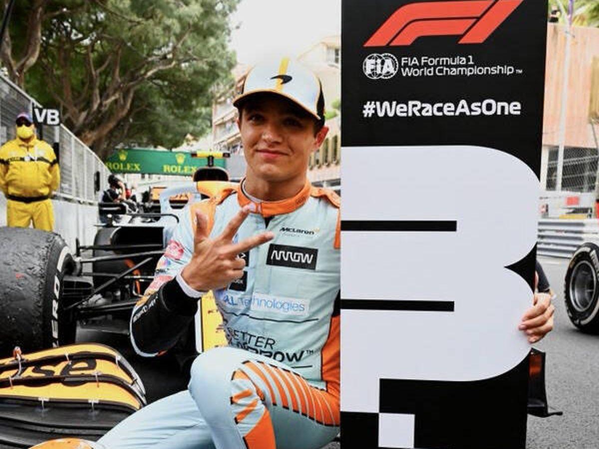 Foto: Lando Norris logró el primer podio para McLaren en Mónaco desde 2011, días después de su renovación