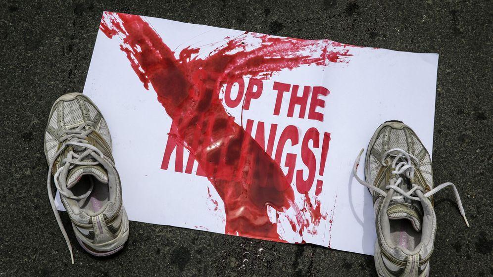 Foto: Protesta por los asesinatos ordenados por el Gobierno de Filipinas   EFE