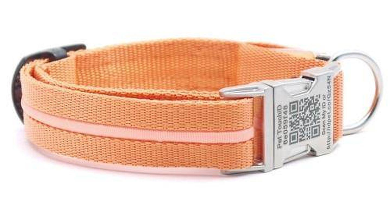 Los collares de Pet TouchID mandan la ubicación GPS previo escaneo de un código QR. (Imagen: Pet TouchID)