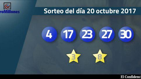 Resultados del sorteo del Euromillones del 20 de octubre de 2017