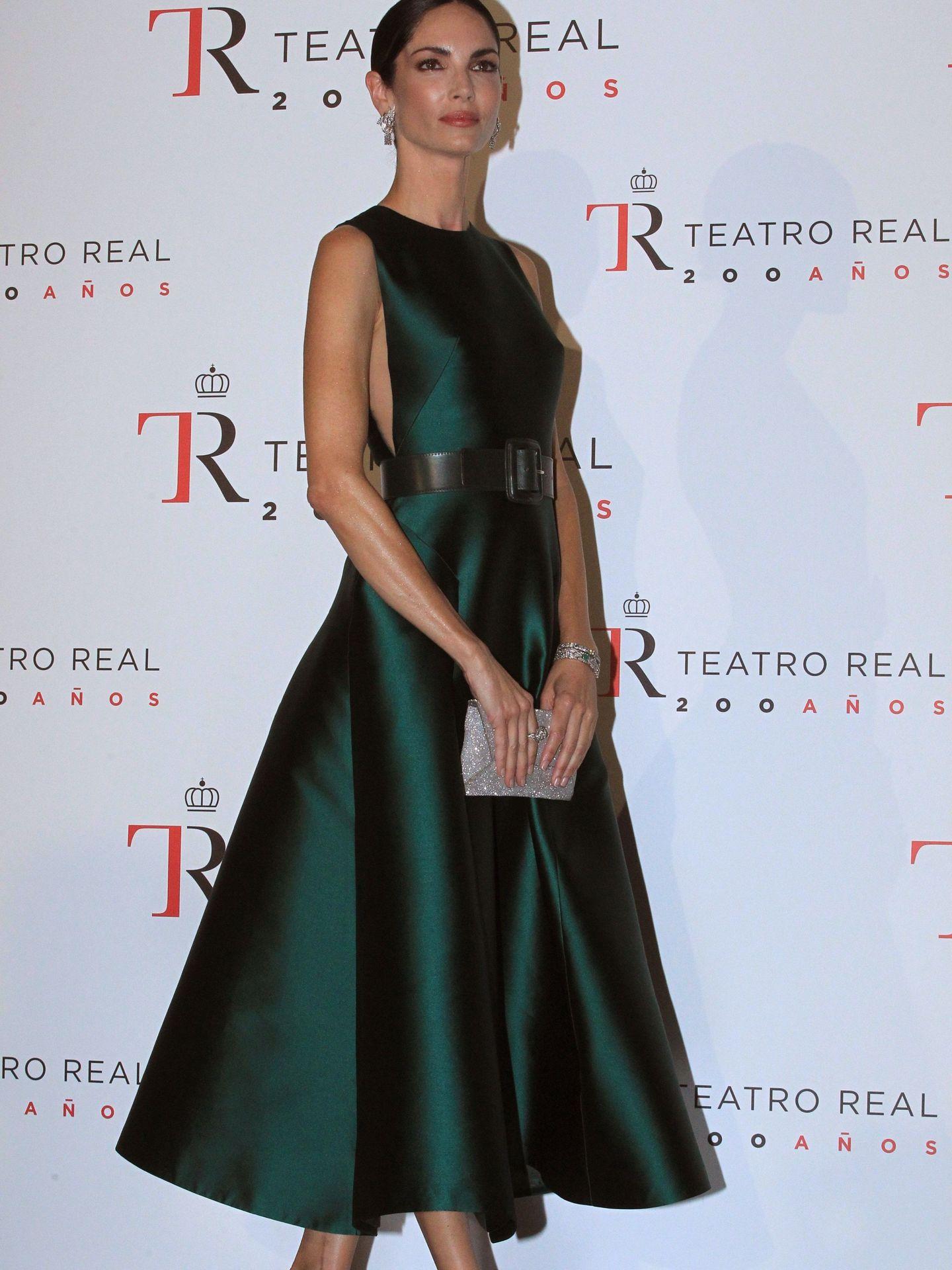 Eugenia Silva, durante la inauguración de la temporada del Teatro Real en 2018. (EFE)