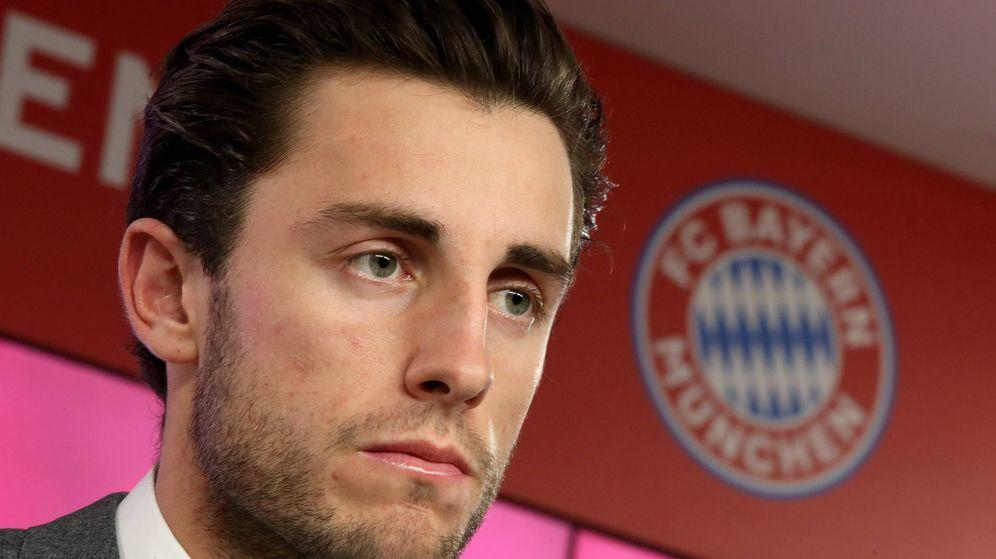 Foto: Álvaro Odriozola, en la presentación como jugador del Bayern de Múnich. (EFE)