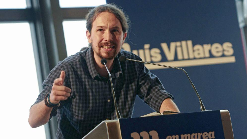 Foto: El secretario general de Podemos, Pablo Iglesias, en un mitin para respaldar al candidato de En Marea a la presidencia de la Xunta en 2016. (EFE)