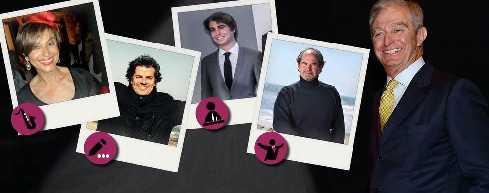 Foto: Florita, Bernaldo, Alberto Jr, Stefano y Alberto Palatchi (Fotomontaje de 'Vanitatis')