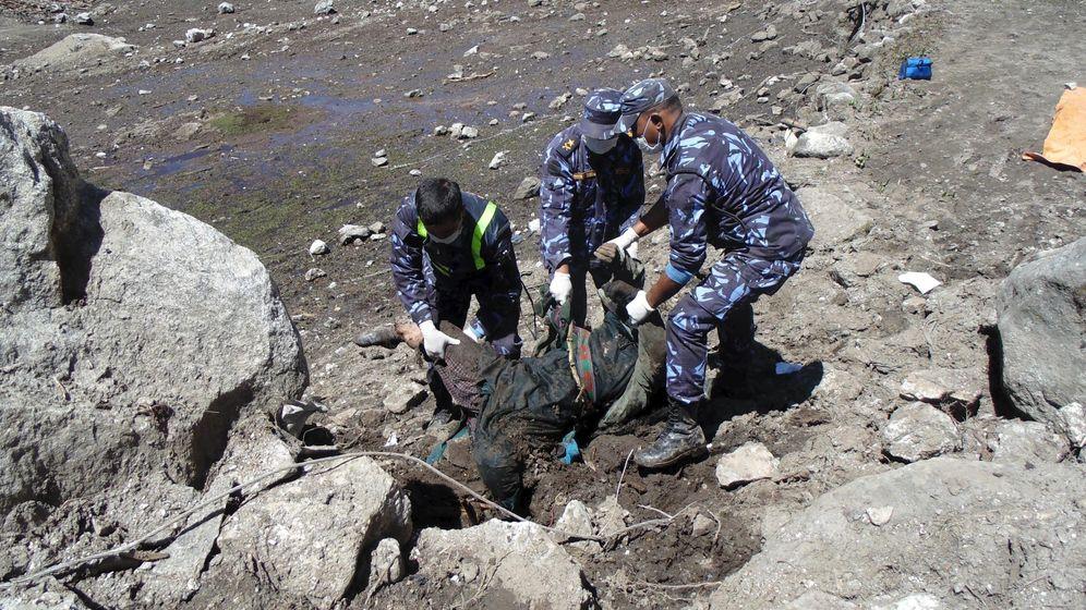 Foto: Imagen de una de las zonas afectadas por el terremoto en Nepal (EFE)