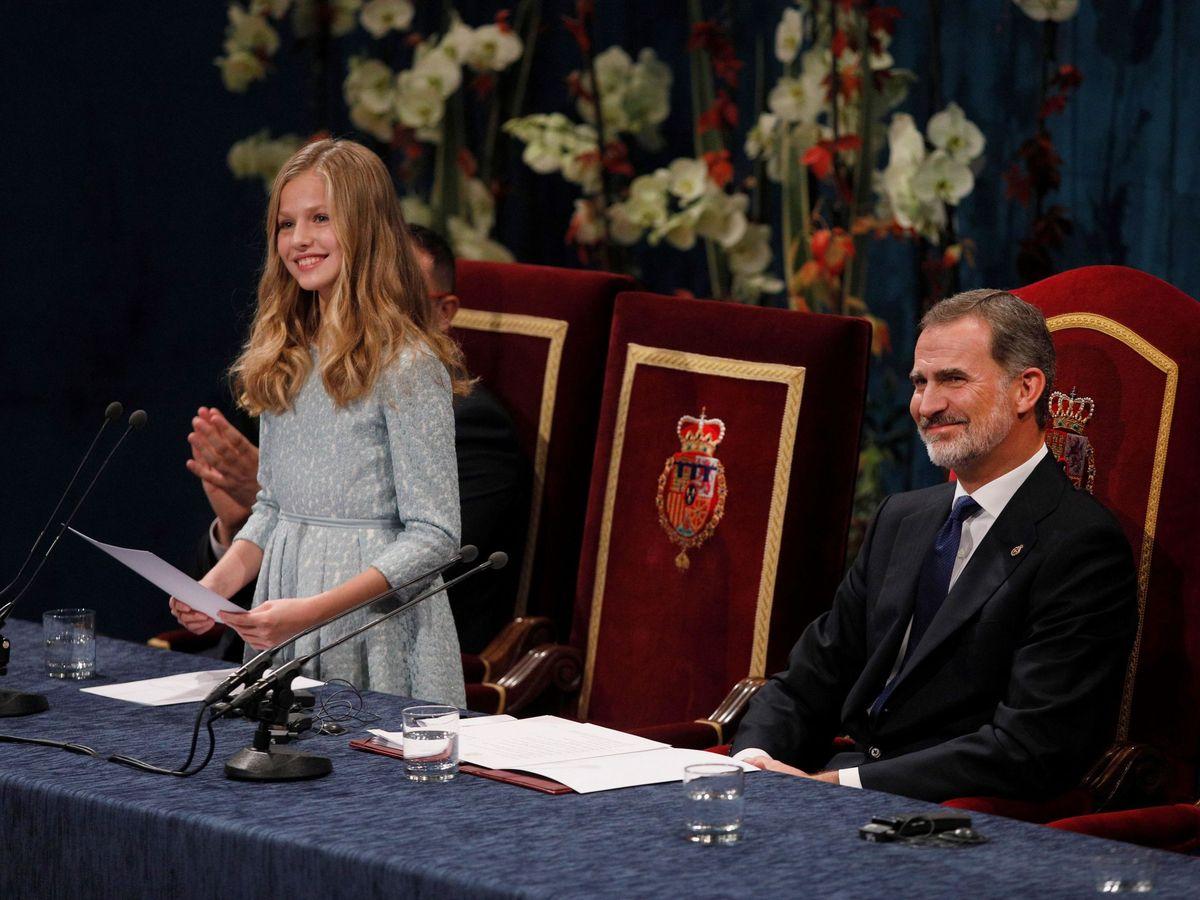 Foto: La princesa Leonor, durante la entrega de premios de 2019. (EFE)