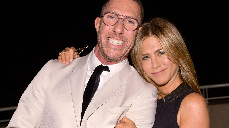 Chris McMillan, con Jennifer Aniston. (Getty)
