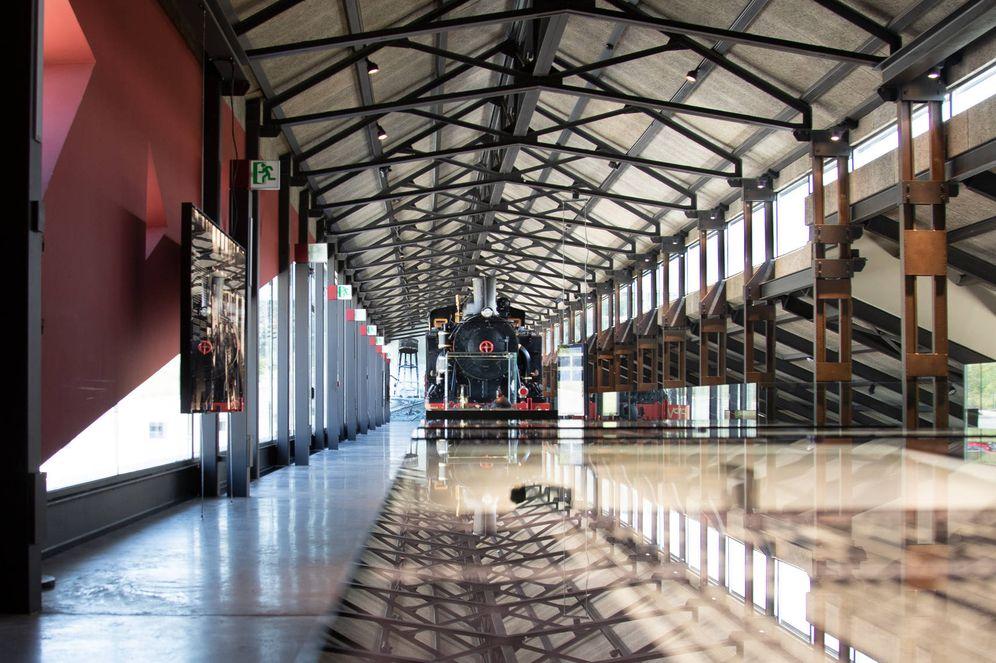 Foto: Una sala vacía del Museo de la Energía de Ponferrada. (Patricia Seijas)