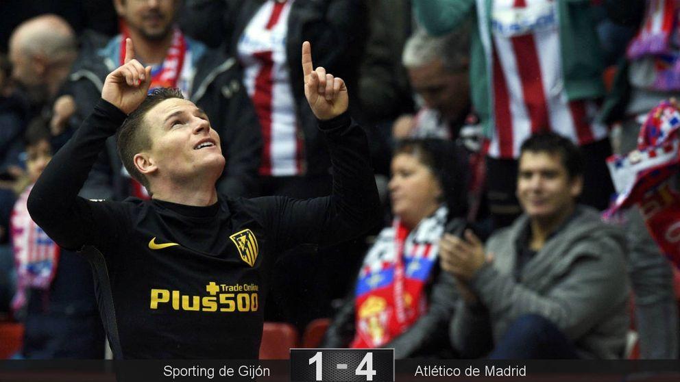 Gameiro recupera el traje de goleador para rescatar a última hora al Atlético