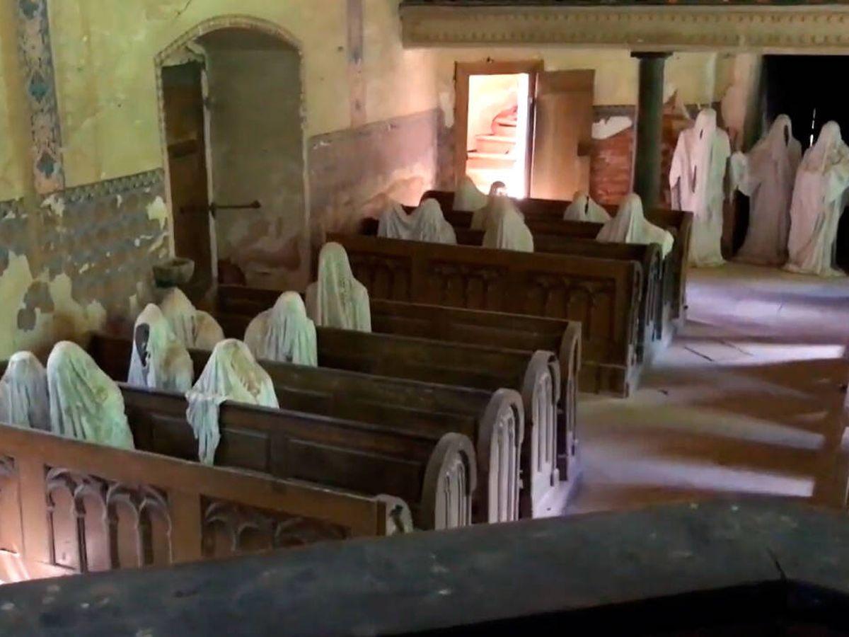 Foto: San Jorge, conocida como la Iglesia de los 9 fantasmas (YouTube)