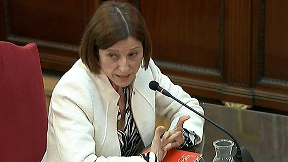 Foto: Imagen de la señal institucional del Tribunal Supremo de la expresidenta del Parlament Carme Forcadell durante su declaración. (EFE)