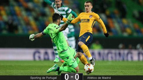 Las mejores imágenes del Sporting-Atlético de Madrid de Europa League