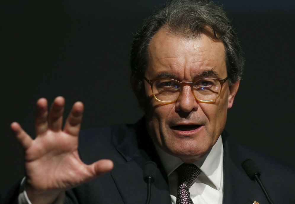 Foto: Artur Mas durante una conferencia en San Sebastián. (EFE)