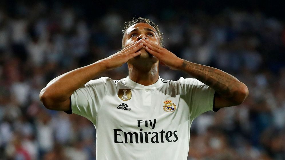 Foto: Mariano celebra su golazo ante la Roma en la Champions. (Reuters)