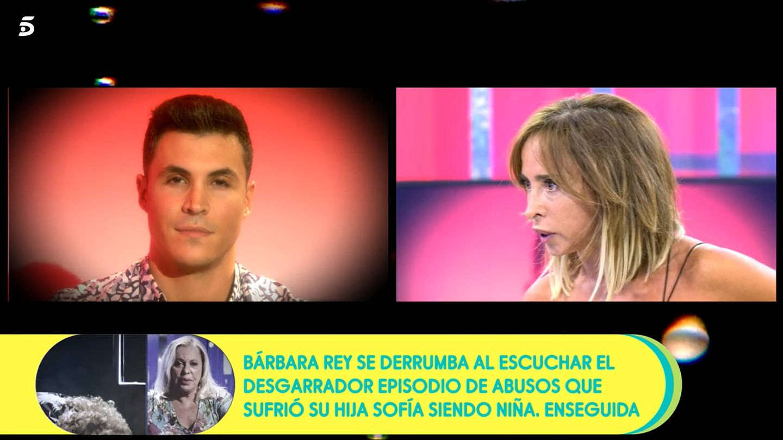 María Patiño, respondiendo a Kiko Jiménez. (Mediaset)
