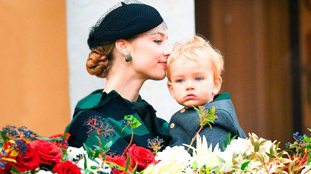 Foto:  Beatrice Borromeo y su hijo Francesco Casiraghi, el Día Nacional de Mónaco. (Getty)