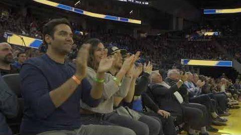 Una estelada en la NBA con el Castellers de Vilafranca en casa de los Golden State Warriors
