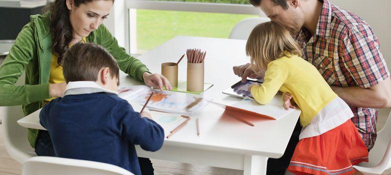 Foto: Las familias ayudan a que sus hijos se sientan capaces, amados y apreciados. (Corbis)