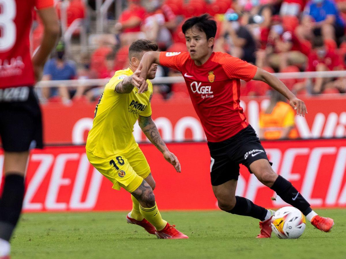 Foto: Kubo durante el partido entre el Mallorca y el Villarreal. (Efe)