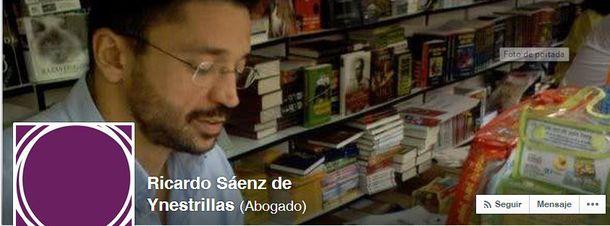 Foto: Perfil social en Facebook de Ricardo Sáenz de Ynestrillas